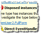 Disposed instances analysis issue