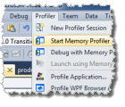 Start memory profiler from Visual Studio