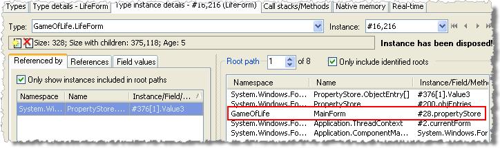 LifeForm instance details