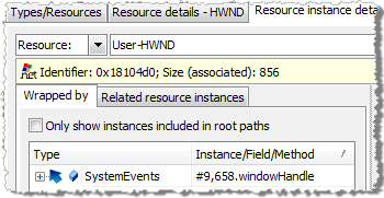 Resource instance details